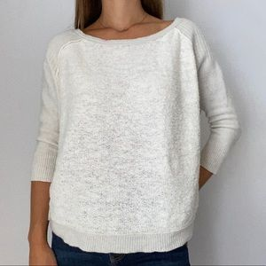 Free People 3/4 Sleeve Two Tone Sweater